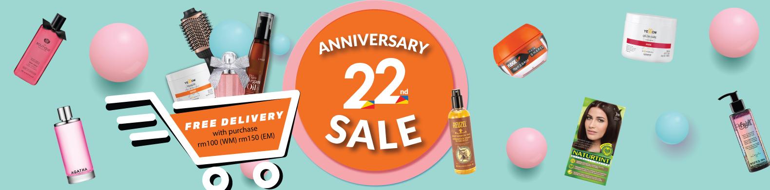 22nd Anniversary Sale