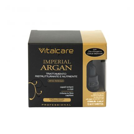 VITALCARE Imperial Argan Restructuring and Nourishing Treatment with Stem Cells (No Rinse) 6x12ml [VC109]