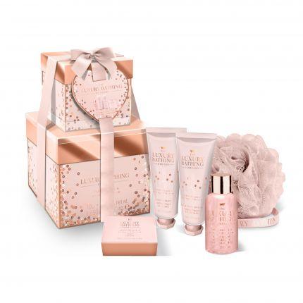 Grace Cole Creme Brulee & Orange Blossom Body Wash + Body Cream + Hand & Nail Cream + Soap + Body Polisher - True Love [GC924]