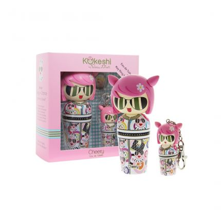 Kokeshi Cheery By Valeria Attinelli Mini Keyring 5ml Set + EDT 50ml Cheery [!YK303]