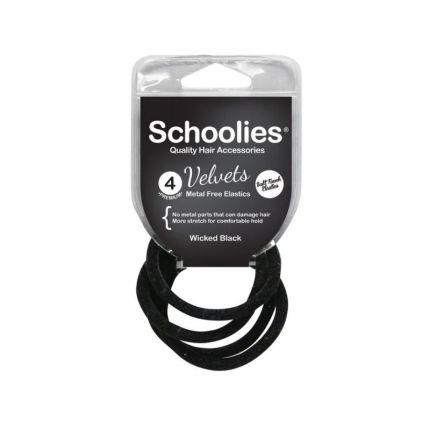 Schoolies Velvets 4PC Real Wicked Black [SCH254]