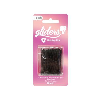 Gliders 36 pc Bobby Pins - Black [SCH820]