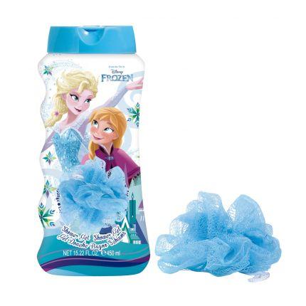 Air-Val Frozen Shower Gel 450ml + Sponge [YAV313]