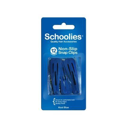 Schoolies Snap Clips 12pc Dark Blue [SCH421]
