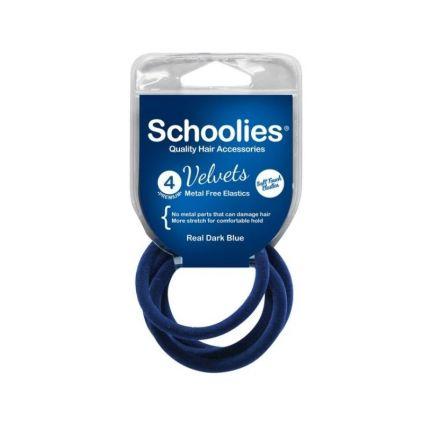 Schoolies Velvets 4PC Real Dark Blue [SCH251]