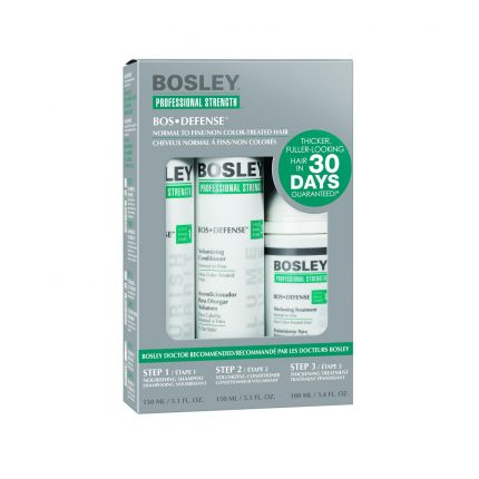 Bosley BOS DEFENSE Starter Kit for Non Color-Treated Hair [BOS106]