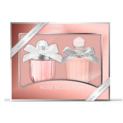 Women Secret Rose Seduction Gift Set Eau De Parfum 100ml + Body Lotion 200ml [YW127]