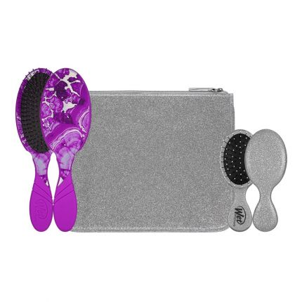 Wet Brush Pro Glitter & Go Set with Pouch - Silver [WB191]