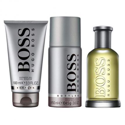 Hugo Boss Bottle EDT 100ml + Shower Gel 100ml + Deodorant 150ml Set [YH2722]