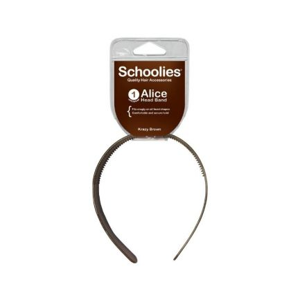 Schoolies Alice Head Band Krazy Brown [SCH133]