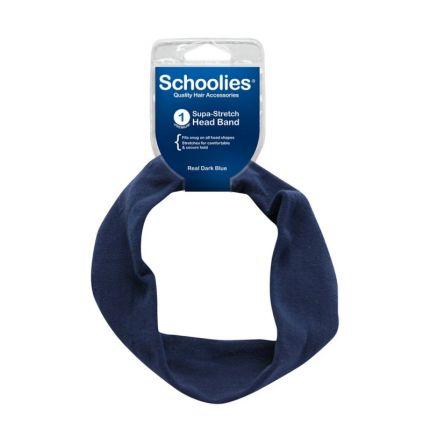 Schoolies Supa-Stretch Head Band Real Dark Blue [SCH141]
