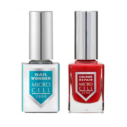 Micro Cell Colour & Repair Really Red & 1 NAIL WONDER-TWIN PACK [MC453]