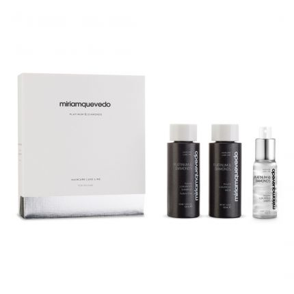 [Travel Set] Miriam Quevedo Platinum & Diamonds Starter Set (Shampoo 100ml, Mask 100ml, Drop 50ml) [!MQ552]