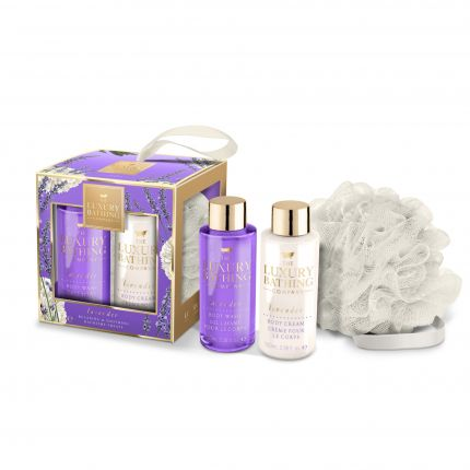 Grace Cole Lavender Body Wash 100ml + Body Cream 100ml + Body Polisher - Time to Relax [GC912]