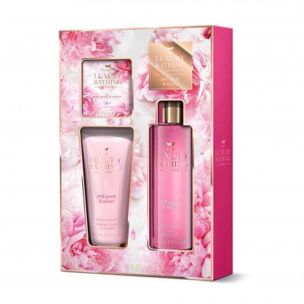 Grace Cole Pink Peony & Vetiver Foam Bath 250ml + Body Cream 150ml + Soap 100g - Blushing Blooms [GC904]