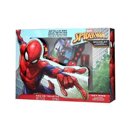 Spiderman Set EDT 50ml + Keyring + Metal Case + Bracelet