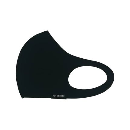 AROUND101 3D Cooling Adult Mask Black - M [AD101]