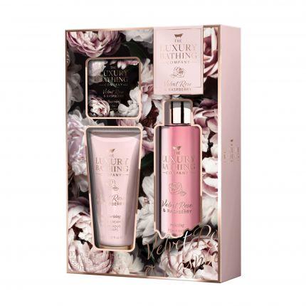Grace Cole Velvet Rose & Raspberry Foam Bath 250ml + Body Cream 150ml + Soap 100g - Enchanting [GC922]