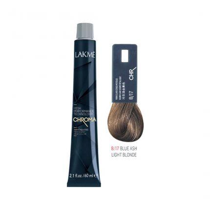 Lakme Chroma 8.17 Blue Ash Light Blonde 60ml [LKC817]