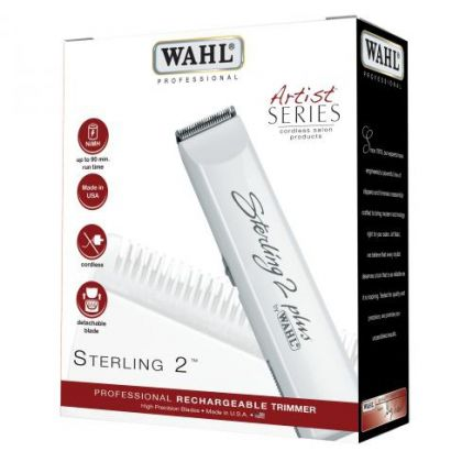 Wahl Sterling 2 Plus Professional Rechargeable Hair Trimmer/Clipper [E10203]