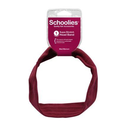 Schoolies Supa-Stretch Head Band Mad Maroon [SCH142]
