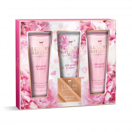 Grace Cole Pink Peony & Vetiver Hand & Nail Cream 50ml x 3 - Pamper Me [GC903]