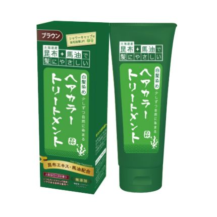 Sanwatsusyo Konbu to Mayu hair colour treatment - Brown [SW102]