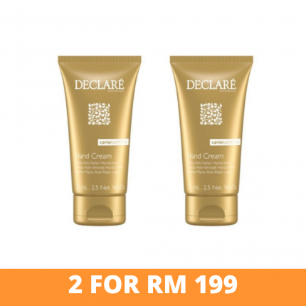 [2 at RM199] Declare Caviar Perfection Anti-wrinkle Hand Cream 50ml [DC309x2]
