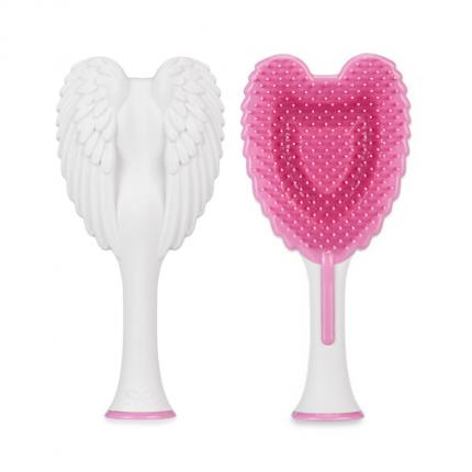Tangle Angel Cherub 2.0 Detangling Hair Brush - Soft Touch White - Grey [!TGA39]