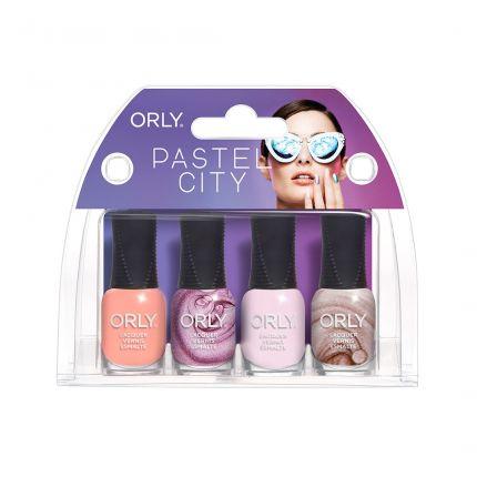 Orly Pastel City Spring '18 Nail Lacquer 4 pcs Mini Kits [OLP28329]