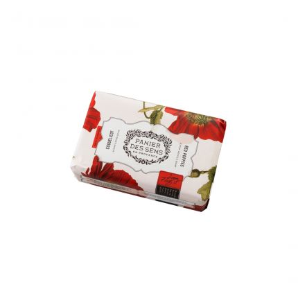 Panier Des Sens Authentic Shea Butter Soap Red Poppies 200g [PDS805]