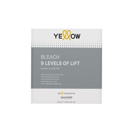Yellow Bleach 9 Tones Sachet 50g [YEB502]