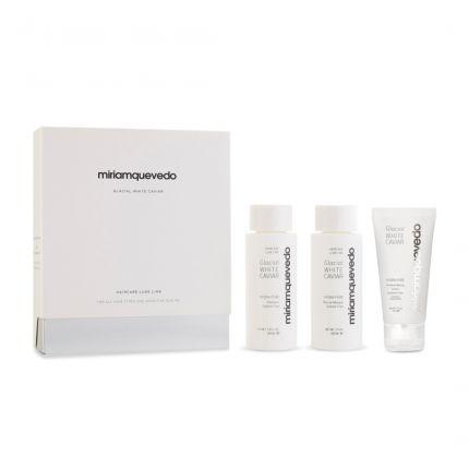 [Travel Set] Miriam Quevedo Glacial White Caviar Starter Set (Shampoo 100ml, Masque 100ml, Cream 50ml) [!MQ671]