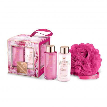 Grace Cole Pink Peony & Vetiver Body Wash 100ml + Body Cream 100ml + Body Polisher - Graceful [GC902]