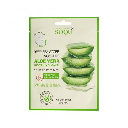 Soqu Deep Sea Water Aloe Vera Soothing Mask 23g [SOQU102]