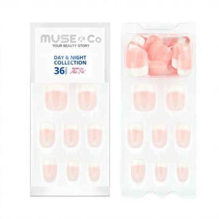 MUSE&Co Stick-On Gel 36 Nails - Lovely Rosy [MSCNF0011AF]
