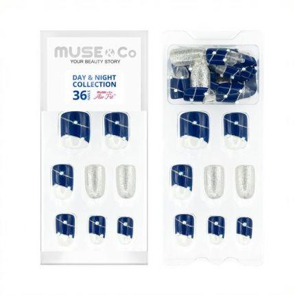 MUSE&Co Stick-On Gel 36 Nails - Twinkle Stars [MSCNF0020AF]