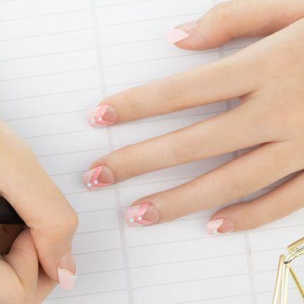 MUSE&Co Stick-On Gel 36 Nails -Blush Pink [MSCNF0021AF]