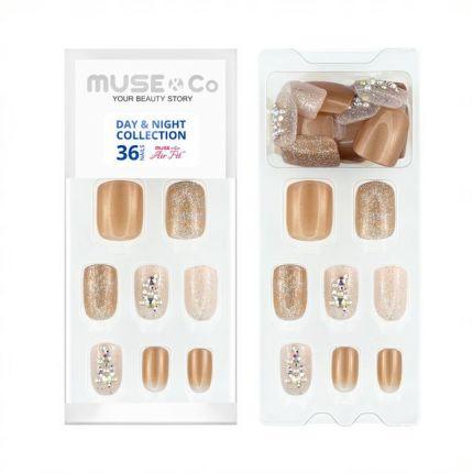 MUSE&Co Stick-On Gel 36 Nails - Golden Hour [MSCNL0005AF]