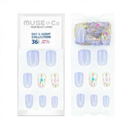 MUSE&Co Stick-On Gel 36 Nails - Confetti Pop [MSCNL0006AF]