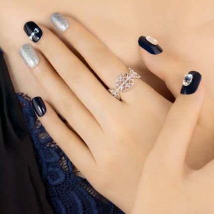 MUSE&Co Dazzling Collection 36 Nails - Timeless Bow [MSCNP0012]
