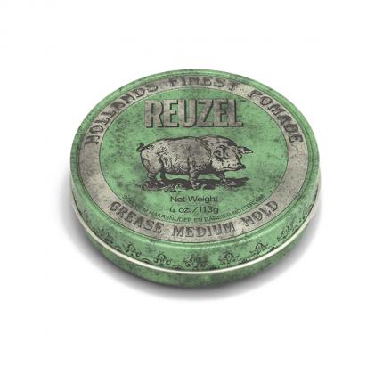 REUZEL Green Pomade Grease - 4OZ/113G [RZ204]
