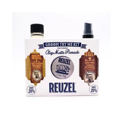 REUZEL Clay Matte Groom Try Me Kit [RZ2151]