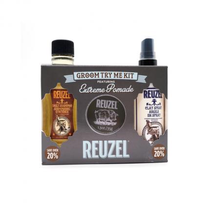REUZEL Extreme Hold Groom Try Me Kit [RZ2181]